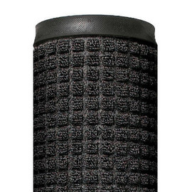 Deluxe Rubber Backed Carpet Mat Charcoal 3 ft x 10 ft x 1/4 inch
