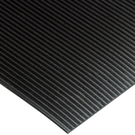 Black Corrugated Rib Runners 3 ft x 75 ft x 1/8 inch