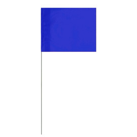 Marking Flags Blue 4 inch x 5 inch Flag with 21 inch Wire Staff (100 Flags)