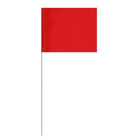Marking Flags Red 4 inch x 5 inch Flag with 21 inch Wire Staff (100 Flags)