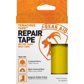 Tenacious Tape Ultra Strong Tent Repair Tape Yellow 3 inch x 20 inch Strip