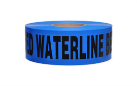 Non-Detectable Underground Tape - Caution Buried Water Line Below - 2.5 mil 3 inch x 1000 ft Roll (8 Roll/Pack)