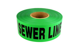 Non-Detectable Underground Tape - Caution Buried Sewer Line Below - 3 inch x 1000 ft Roll (8 Roll/Pack)