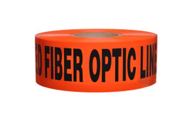Non-Detectable Underground Tape - Caution Buried Fiber Optic Line Below - 3 inch x 1000 ft Roll (8 Roll/Pack)