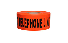 Non-Detectable Underground Tape - Caution Buried Telephone Line Below - 3 inch x 1000 ft Roll (8 Roll/Pack)