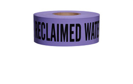 Non-Detectable Underground Tape - Caution Buried Reclaimed Water Line Below - 3 inch x 1000 ft Roll (8 Roll/Pack)