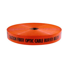 Mega Stretch Underground Marking Tape - Caution Buried Fiber Optic Line Below - 3 inch x 6000 ft 2 Piece/Pack