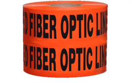 Non-Detectable Underground Tape - Caution Buried Fiber Optic Line Below - 6 inch x 1000 ft Roll (4 Roll/Pack)