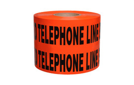 Non-Detectable Underground Tape - Caution Buried Telephone Line Below - 6 inch x 1000 ft Roll (4 Roll/Pack)