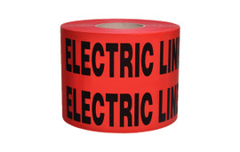 Non-Detectable Underground Tape - Caution Buried Electric Line Below 6 inch x 1000 ft Roll (4 Roll/Pack) - Red