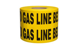 Non-Detectable Underground Tape - Caution Buried Electric Line Below-Disp Box - 6 inch x 1000 ft Roll (4 Roll/Pack) - Yellow