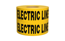 Non-Detectable Underground Tape - Caution Buried Electric Line Below - 6 inch x 1000 ft Roll (4 Roll/Pack) - Yellow