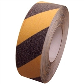 Non Skid Black and Yellow Safety Stripe Tape 2 inch x 20 yard Roll  (6 Roll/Pack)
