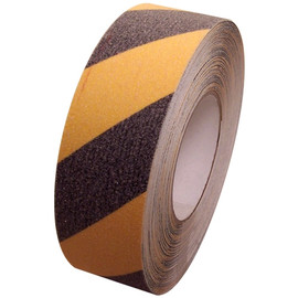 Non Skid Black and Yellow Safety Stripe Tape 2 inch x 20 yard Roll