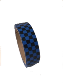 Laminated Checkerboard Outdoor Vinyl Tape 1 inch x 18 yard Roll Blue / Black