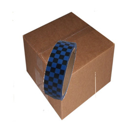 Laminated Checkerboard Outdoor Vinyl Tape 1 inch x 18 yard Roll Blue / Black (Pack of 24)