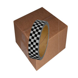 Laminated Checkerboard Outdoor Vinyl Tape 1 inch x 18 yard Roll Gray / Black (24 Roll / Pack)