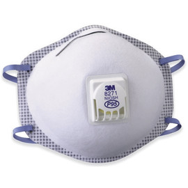 3M 8271 Oil-Proof Respirator with Valve (80 Per/Pack)