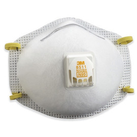 3M 8511 Dust Respirator with Valve (80 Per/Pack)