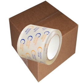 Crystal Clear Carton Sealing Tape 2.7 mil (4 inch x 55 yard Roll (18 Roll/Pack)