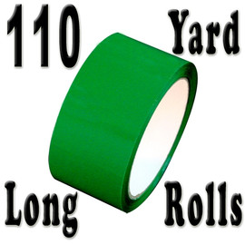 Green Carton Sealing Tape 2 inch x 110 yard Roll 2.0 mil