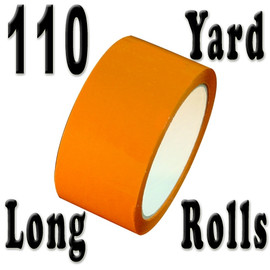 Orange Carton Sealing Tape 2 inch x 110 yard Roll 2.0 mil