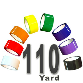 Rainbow Pack 2.0 mil Carton Sealing Tape 2 inch x 110 yard Roll 2.0 mil (8 Roll)