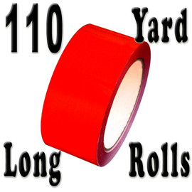 Red Carton Sealing Tape 2.0 mil 2 inch x 110 yard Roll 2.0 mil