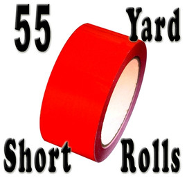 Red Carton Sealing Tape 2.0 mil 2 inch x 55 yard Roll 2.0 mil