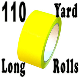 Yellow Carton Sealing Tape 2 inch x 110 yard Roll 2.0 mil