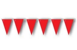 Red OSHA Pennant Flags 10 Strand Pack