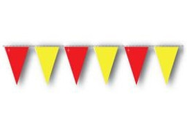 Yellow and Red OSHA Pennant Flags 10 Strand Pack
