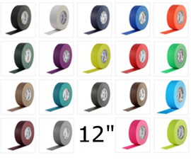 Pro Gaff Colored Gaffers Tape 12 inch X 55 yard (4 Roll Pack)