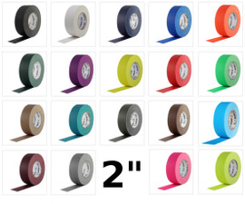 Pro Gaff Colored Gaffers Tape 2 inch X 55 yard (24 Roll Pack)