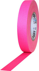 Pro Gaff Fluorescent Pink Gaffers Tape 1 inch x 50 yard Roll