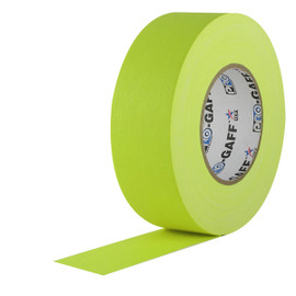 Pro Gaff Fluorescent Yellow Gaffers Tape 2 inch x 50 yard Roll