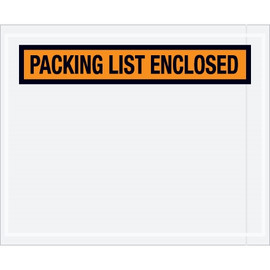 Panel Face Orange  inchPacking List Enclosed inch Envelopes 4 1/2 inch x 5 1/2 inch (1000 Pack)