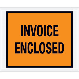 Full Orange  inchInvoice Enclosed inch Envelopes 4 1/2 inch x 5 1/2 inch (1000 Pack)