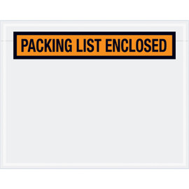Panel Face Orange  inchPacking List Enclosed inch Envelopes 7 inch x 5 1/2 inch (1000 Pack)