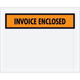 Orange  inchInvoice Enclosed inch Envelopes 7 inch x 5 1/2 inch (1000 Pack)