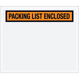 Panel Face Orange  inchPacking List Enclosed inch Envelopes 6 1/2 inch x 5 inch (1000 Pack)