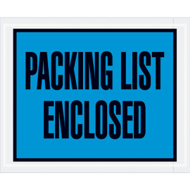 Full Face Blue  inchPacking List Enclosed inch Envelopes 4 1/2 inch x 5 1/2 inch (1000 Pack)