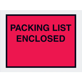 Full Face Red  inchPacking List Enclosed inch Envelopes 4 1/2 inch x 6 inch (1000 Pack)-1