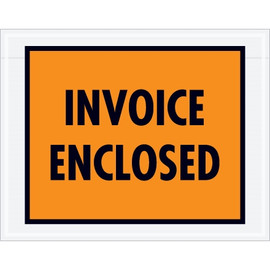 Full Orange  inchInvoice Enclosed inch Envelopes 7 inch x 5 1/2 inch (1000 Pack)