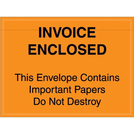 Orange  inchImportant Papers Enclosed inch Envelopes 4 1/2 inch x 6 inch (1000 Pack)-1