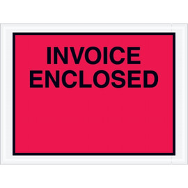 Full Red  inchInvoice Enclosed inch Envelopes 4 1/2 inch x 6 inch (1000 Pack)