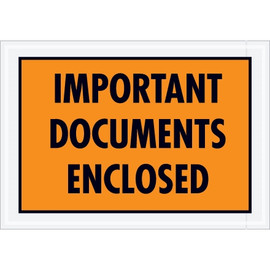 Special Use Orange  inchImportant Documents Enclosed inch Envelopes 5 1/4 inch x 7 1/2 inch (1000 Pack)