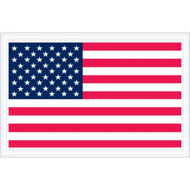 U.S.A. Flat Flag  inchPacking List Enclosed inch Envelopes 5 1/4 inch x 8 inch (1000 Pack)