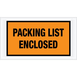 Full Face Orange  inchPacking List Enclosed inch Envelopes 5 1/2 inch x 10 inch (1000 Pack)