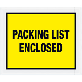 Full Face Yellow  inchPacking List Enclosed inch Envelopes 10 inch x 12 inch (500 Pack)